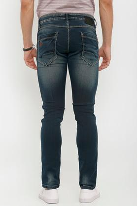 Mens 5 Pocket Distressed Jeans