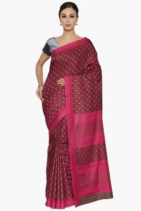 Women Floral Print Art Silk Saree - 202351992