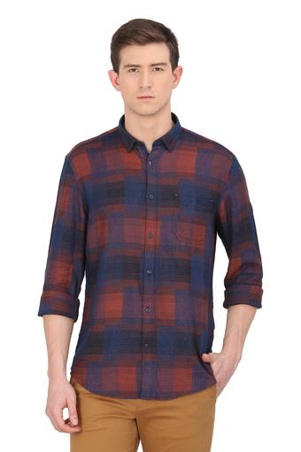 Mens Slim Collar Printed Casual Shirt