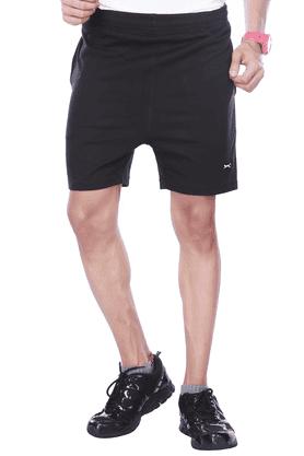 BLACK PANTHERMens Flat Front Regular Fit Solid Shorts