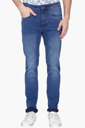 U.S. POLO ASSN. DENIMMens 5 Pocket Skinny Fit Mild Wash Jeans (Regallo Fit)