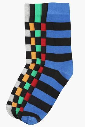 STOP Mens Striped Crew Socks - Pack Of 5