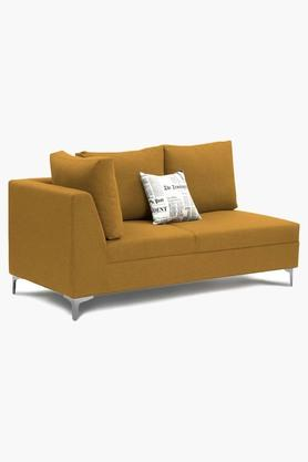 Metallic Gold Water Repellent Fabric Sofa (Lounger)