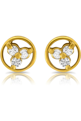 MAHIMahi Gold Plated Dyanamic Grace Earrings With Crystals For Women ER1108885G