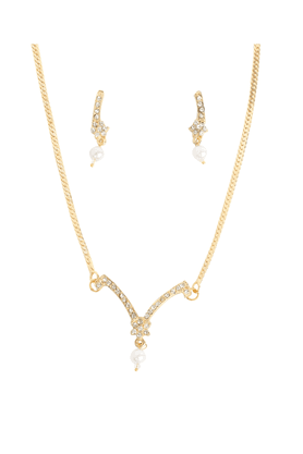 TOUCHSTONE Necklace Set -Mangalsutra Style - 8616303