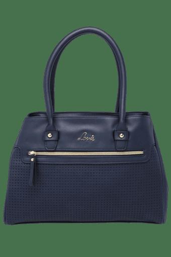 Womens Robins Leather Zipper Closure Medium Hobo Handbag