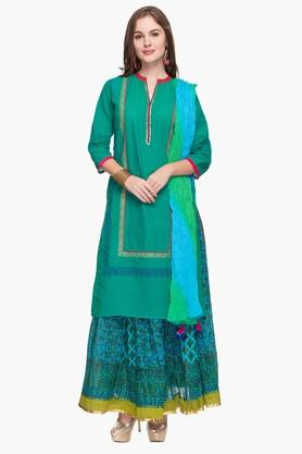 STOP Womens Printed Kurta, Skirt And Dupatta Set