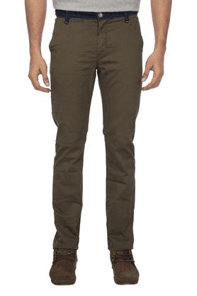 BEING HUMAN Mens Flat Front Slim Fit Solid Chinos