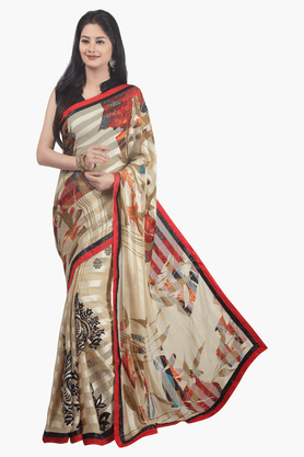 JASHN Womens Printed Saree - 201502521