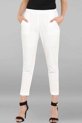 JANASYA - White Pants - Main
