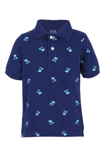 Boys Printed  Polo Tee