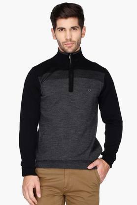 PROLINEMens High Neck Colour Block Sweater