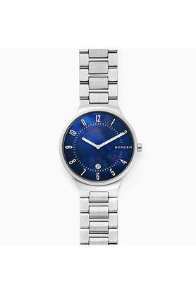 Womens Blue Dial Metallic Analogue Watch - SKW6519
