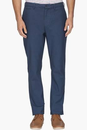 BLACKBERRYS Mens Slim Fit 5 Pocket Solid Trousers