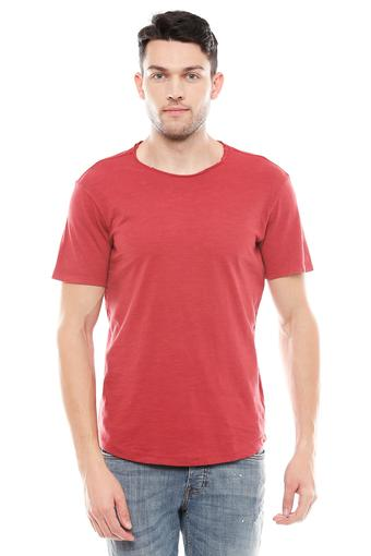 JACK AND JONES -  Red T-shirts - Main
