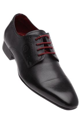 ALBERTO TORRESIMens Black Leather Smart Formal Shoe