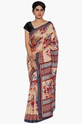 JASHNWomen Floral Print Net Saree - 202444362_9204