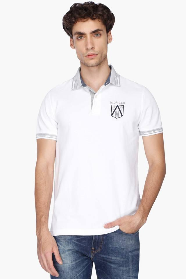 f5e8ae17 Buy TOMMY HILFIGER Mens Solid Polo T-Shirt | Shoppers Stop