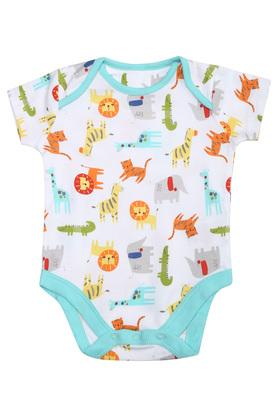 Unisex Envelope Neck Printed and Solid Babysuits Pack of 5
