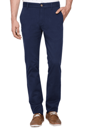 U.S. POLO ASSN. Mens Slim Fit Solid Chinos