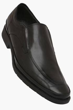 VENTURINI Mens Leather Slip On Formal Loafers  ...