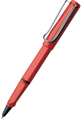 WILLIAM PENN Lamy Safari Red Roller Ball Pen