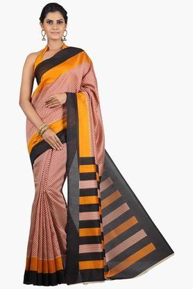 JASHN Women Tussar Silk Printed Saree  ... - 201860670