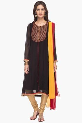 IMARA Womens Embroidered Churidar Anarkali Suit