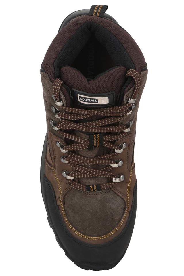 Mens Leather Lace Up Trekking Shoes