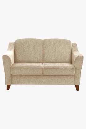 Canvas Beige Fabric Sofa (2 - Seater)