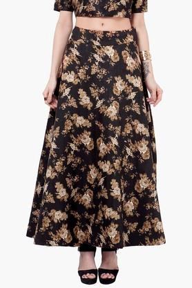 INDYA Womens Printed Maxi Skirt - 201845631