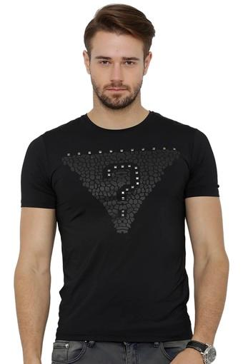 Mens Round Neck Embellished T-Shirt