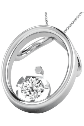 SPARKLES His & Her Collection 92 Kt His & Her Collection Women 925 Sterling Silver Solitaire Diamond Pendant HHDRP9642-92KT