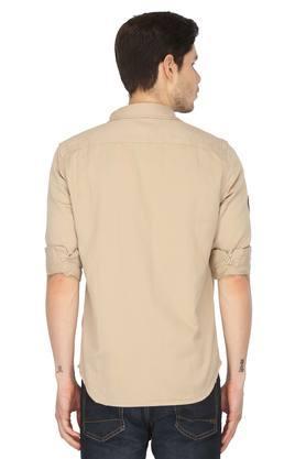 Mens 2 Pocket Solid Shirt