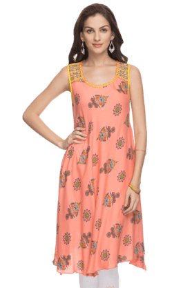 HAUTE CURRY Womens Printed Kurta - 200998195