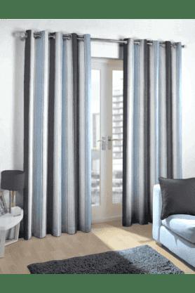 Navy Stripes Curtain