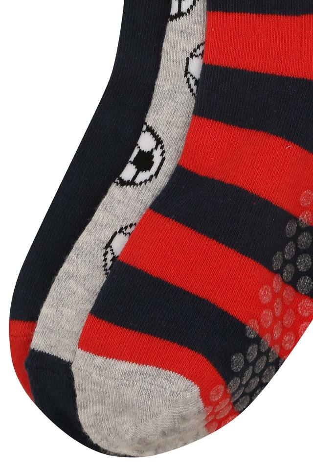 Boys Printed and Stripe Knitted Socks Pack of 3