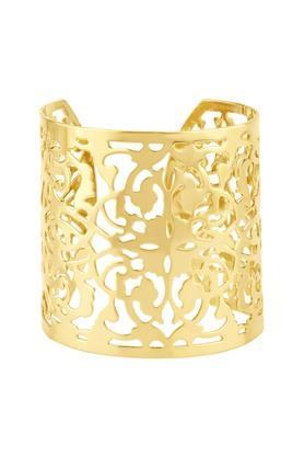 Womens Brass Jaali Cuff Bracelet