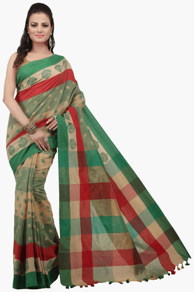 JASHN Womens Embroidered Saree With Blouse Piece - 201312981