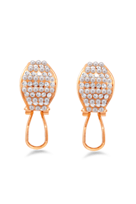 JAZZ Antique & Traditional Design Stone & Pearls Partywear Earrings