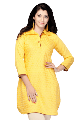 DEMARCA Womens Printed Kurta (Buy Any Demarca Product & Get A Pair Of Matching Earrings Free) - 200936879