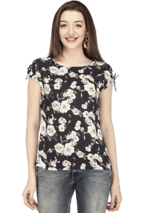 Women Polyester Floral Top