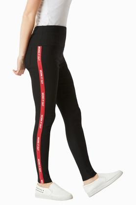 Womens Relaxed Fit Coated Jeggings