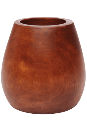 BACK TO EARTH Small Wood Vase