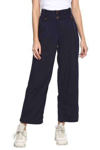 DISHA PATANI FOR GLAM LIFESTYLE -  NavyTrousers & Pants - Main