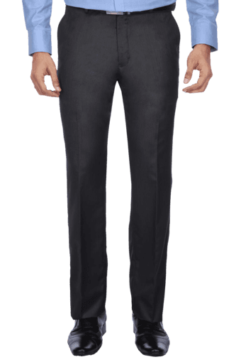 Buy Austin Reed Mens Flat Front Slim Fit Solid Trouser Shoppers Stop