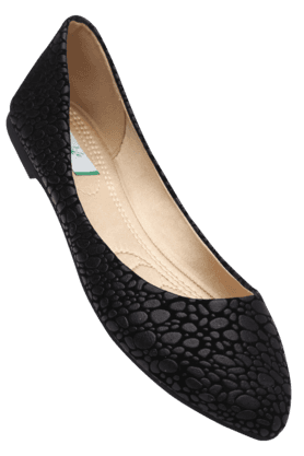 LIFEWomens Black Slipon Ballerina Shoe