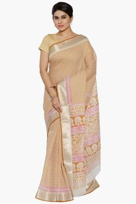 Women Geometric Print Cotton Saree