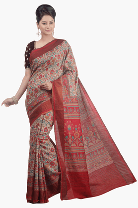 JASHN Womens Printed Saree - 201502565