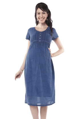 NINE MATERNITY Maternity Trendy Casual Dress